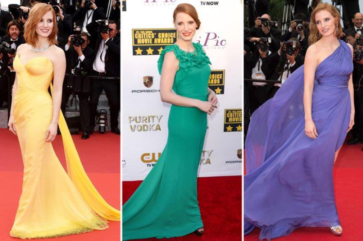 Inspiração para madrinhas: 16 vestidos de Jessica Chastain
