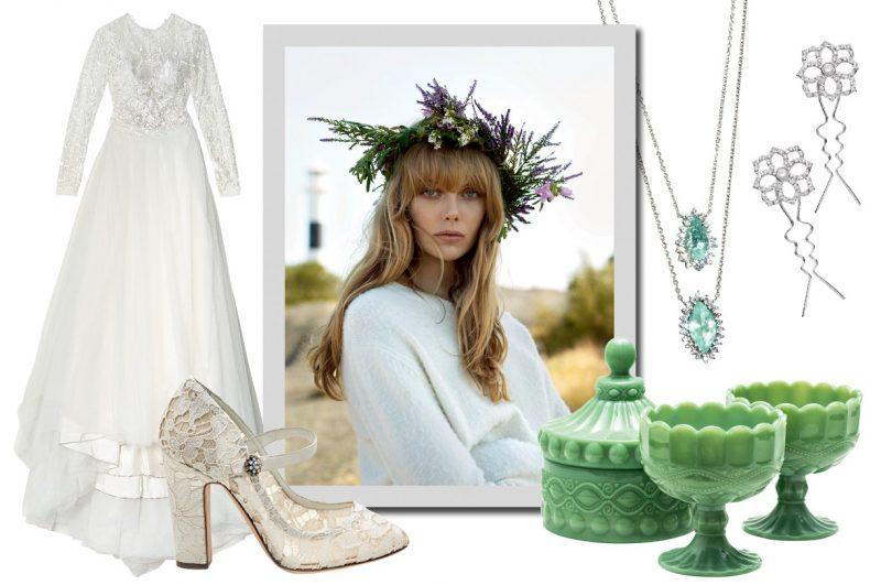 Os melhores vestidos, acessórios e joias para casar no campo