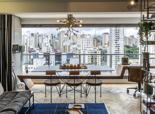 Reforma integra ambientes em apartamento de 50m²