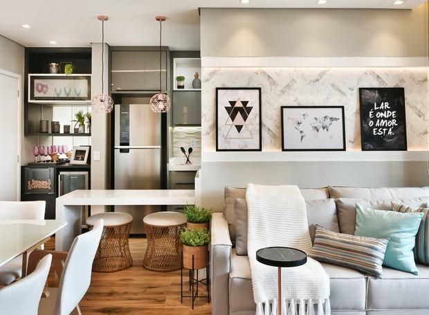 Apartamento de 85 m²  reformado para atender recém-casados