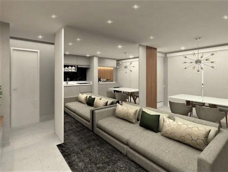 Projeto de interiores contemporâneo para apartamento pequeno
