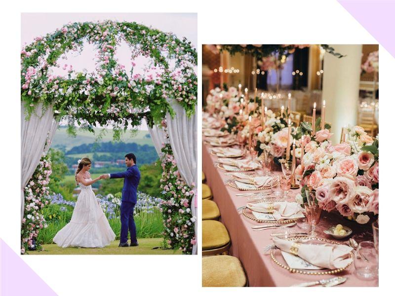 14 tendências de decoração de casamento para 2019-2020
