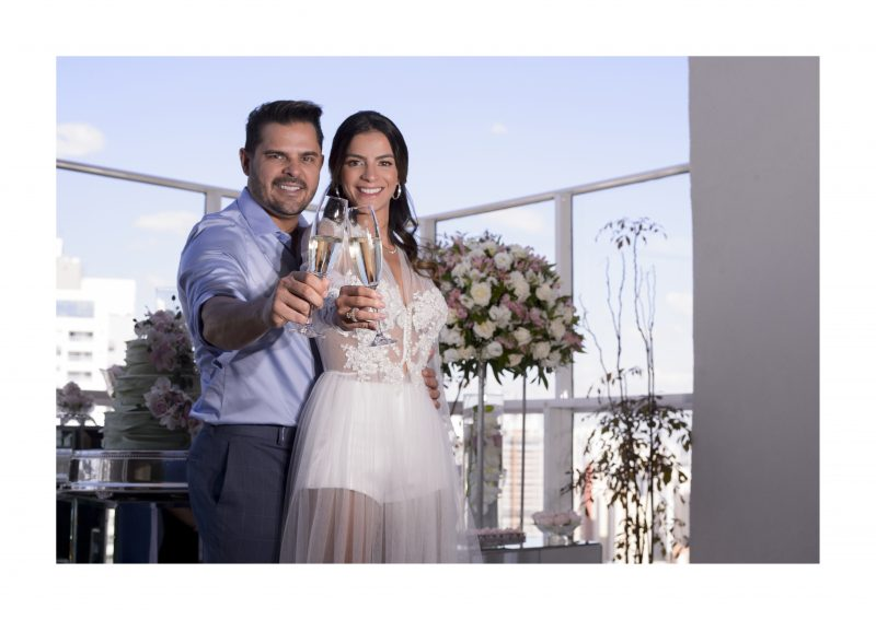 Noivado no Sky Garden Rooftop: Natália Figueira + Rogério Martins