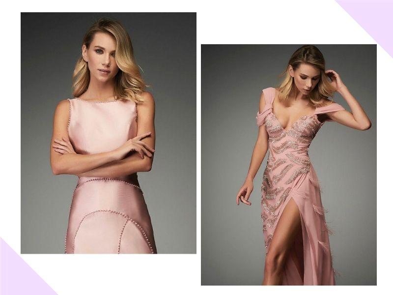 Inspiração para madrinhas e convidadas: Vestidos rosa claro