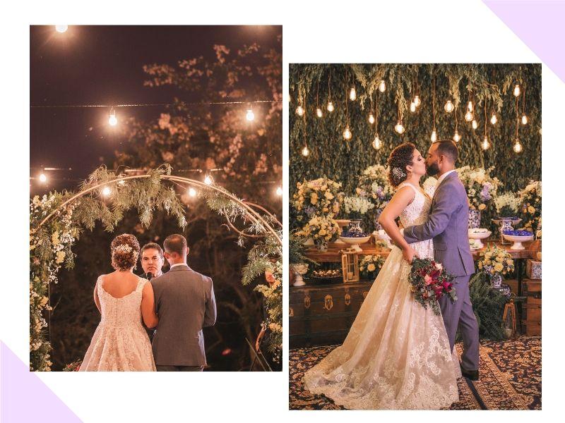 Casamento romântico em amarelo e azul: Gabriella + Thiago