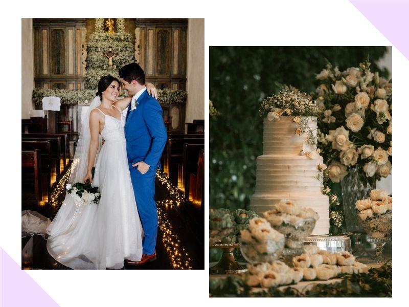 Mini Wedding clássico e romântico: Vitória Vidal + Renan Feitoza