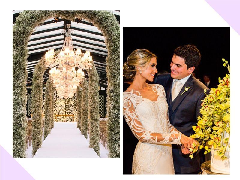 Casamento com cerimônia clássica e festa colorida: Luiza + Guilherme