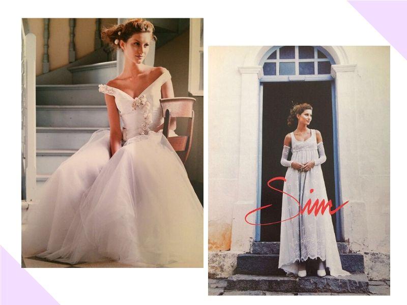 Túnel do tempo: Gisele Bündchen, aos 16 anos, em editorial de vestido de noiva