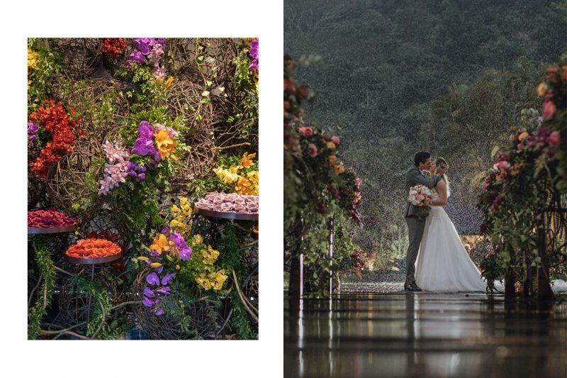 Casamento colorido e romântico Gabrielle + Rafael