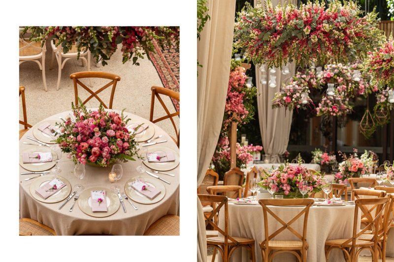 Decoração romântica em tons de rosa