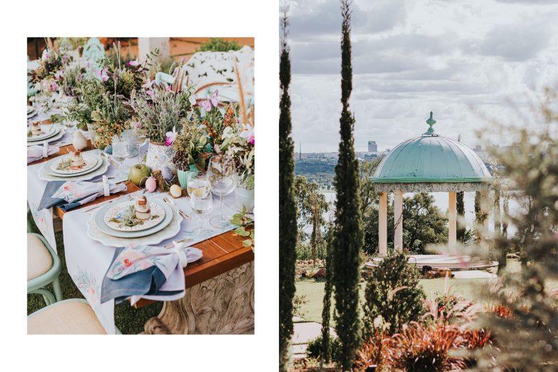 Villa Giardini inspira lindas mesas em editorial de Páscoa