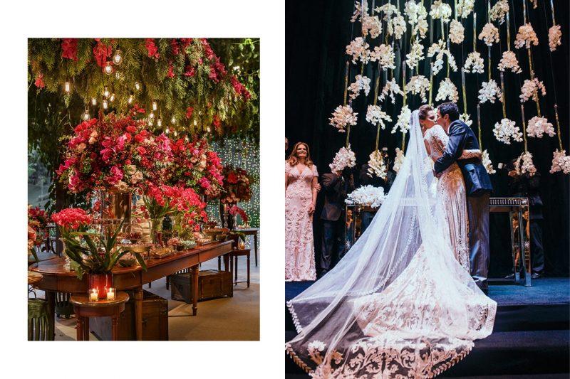 Inspirações de decorações aéreas com orquídeas