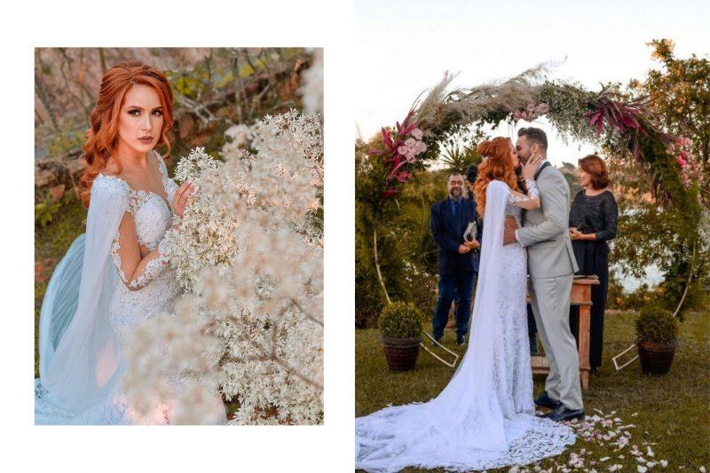 Casamento romântico no campo: Ane Stephanie + André Farias