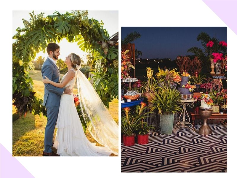 Casamento leve e colorido: Natalie e Caio