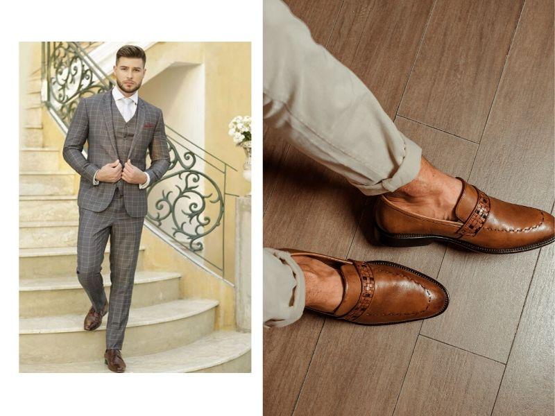 5 sapatos marrons para o noivo