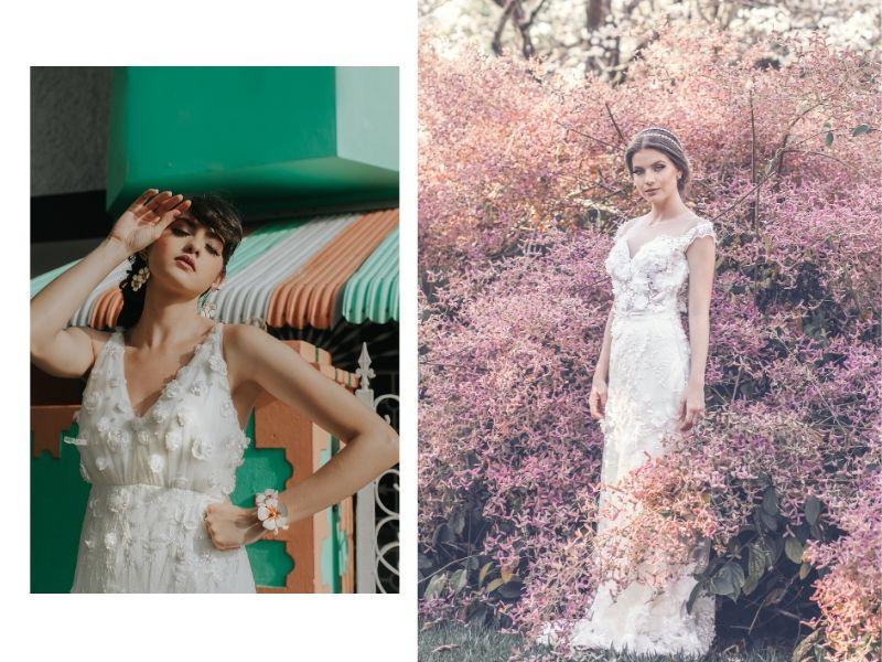 A leveza dos vestidos de noiva assinados por Bruna Mustefaga