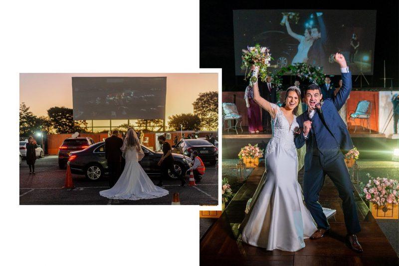 Cerimônia emocionante no Cine Drive-In: Rebeca Ventura + Lucas Dal Bello