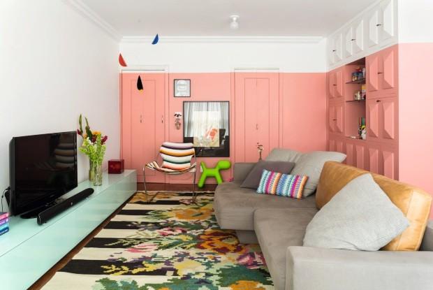Meia parede: ideias de decoração com a pintura bicolor