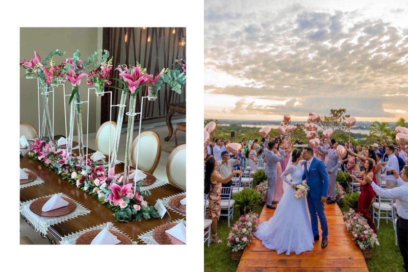 Casamento romântico no Espaço Panorama: Rayane Carneiro e Robert Silva